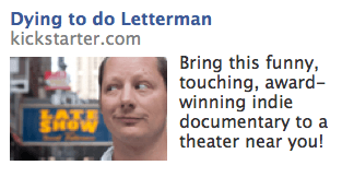 Dying to do letteraman facebook ad