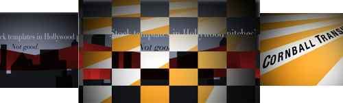 Cornball transition checkerboard wipe