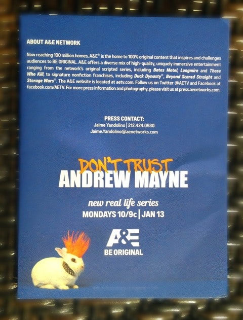 Don't Trust Andrew Mayne New Photos, Video, and Press Release